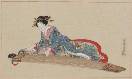 Settei Hasegawa  –  Lady playing koto